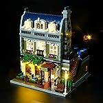 Briksmax ParisianレストランLed照明キット - Lego 10243ビルディングブロックモデルに対応 - Legoセットを含まない