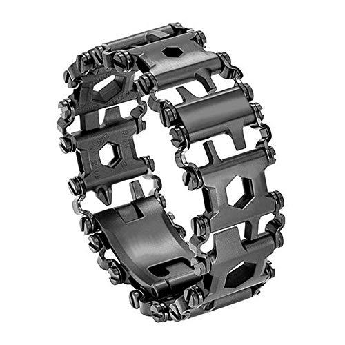 Diamond Survival Multitools Gloss Jet Black Bracelet - Original Travel Friendly Wearable Wilderness Bracelets for Sailing Travel Camping Hiking