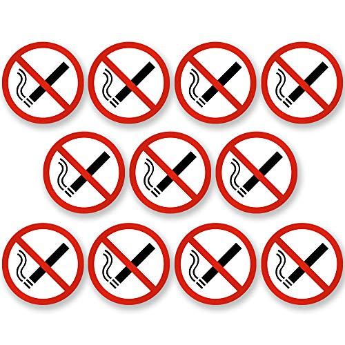 KAVARO 10 adesivi per divieto di fumo – vietato fumare – ad esempio per auto [5cm]
