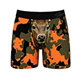 Shinesty Mens Underwear with Pouch, Supportive Ball Hammock Boxer Briefs for Men, Super Soft Camo Underwear, Mens Boxer Briefs Underwear Pack of 1 XX-Large Multicoloured