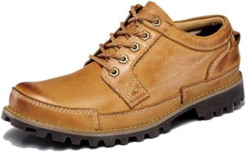 zapatos Casuales Brock hombres Retro Herramientas Gran Cabeza Británica Solo zapatos Negocio