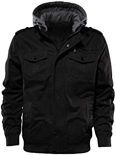 Sponsored Ad - Buytop Men's Casual Winter Cotton Military Jackets Outdoor Full Zip Army Coat