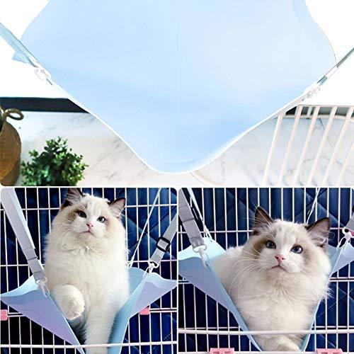 Columpio De Hamaca para Gatos, Cuna De Ventana De Jaula De Rescate, Cuna De Sol para Balcón Colgante Nido Colgante, Adecuada para Gatos De Todos Los Tamaños,Azul