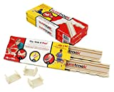 suretrack Wooden Train Railway securing Clips - 3 Packs (Total of 42 Clips) - Patented