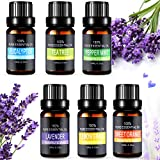Essential Oils Set, Aiemok 6 x 10ml Essential Oils Gift Set 100% Pure
