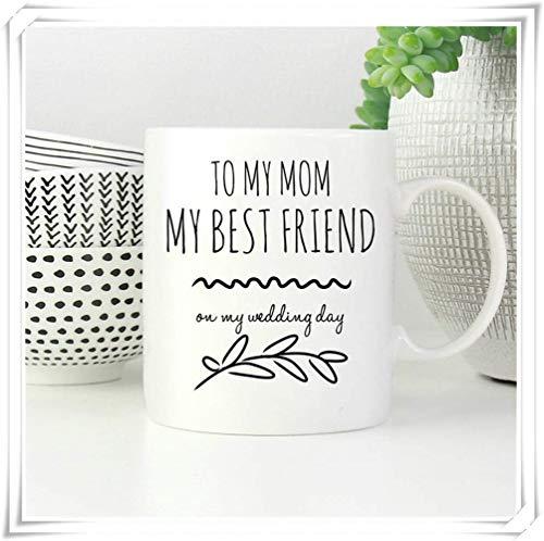 Not Applicable Taza de Regalo de Boda de mamá, Regalo de Madre de la Novia de la Hija, Taza de café de Madre de la Novia, a mi mamá en el Regalo del día de mi Boda