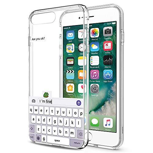 Pnakqil iPhone 8 Plus / 7 Plus Cover Trasparente, Premium Custodia Silicone con Disegni Leggero Ultra Sottile TPU Morbido Antiurto 3D Pattern Bumper Case per iPhone 8 Plus / 7 Plus, Tastiera