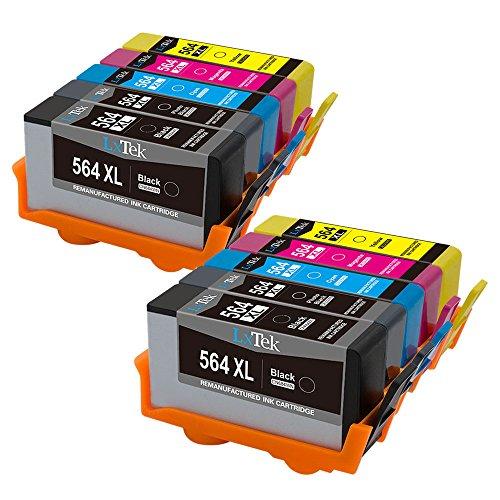 LxTek Remanufactured Ink Cartridge Replacement for HP 564XL (4 Black | 2 Cyan | 2 Magenta | 2 Yellow) CN684WN CB325WN CB323WN CB324WN High Yield