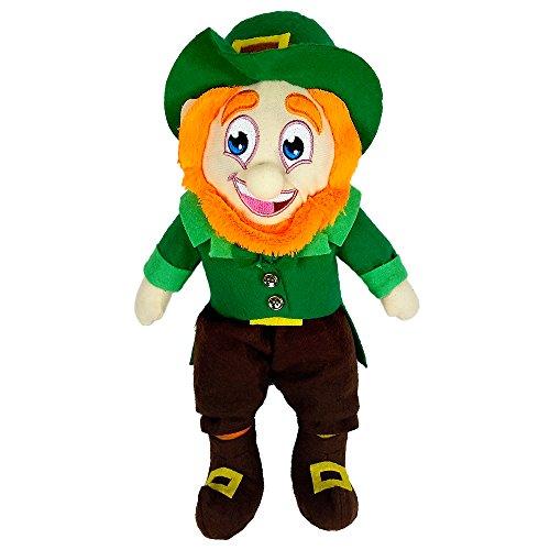 St Patricks Day Decorations 14 Inch Leprechaun Doll Figurine with Shamrock Hat Irish Plush