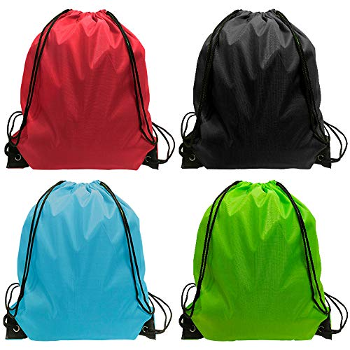 Drawstring Bag - 24 Pack Drawsting Backpack Bags Backpack Bulk Storage Bages for Gym Traveling Multicolor Drawstring Backpack 4 Color