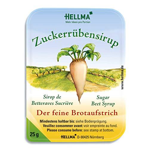 Hellma Zuckerrübensirup, Brotaufstrich, Brot Aufstrich, Zuckerrüben Sirup, für Gastro, Hotel, Büro, Kantine, 100 Stück á 25 g