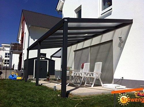 Hochwertige Terrassenüberdachung Schweng 16mm Polycarbonatplatten B: 6,00m x 3,00m T