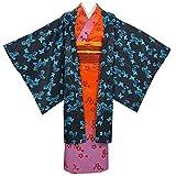 Anime Demon Slayer Kimetsu No Yaiba Cosplay Costumes Amane Ubuyashiki Kimono Halloween Party (M) Orange
