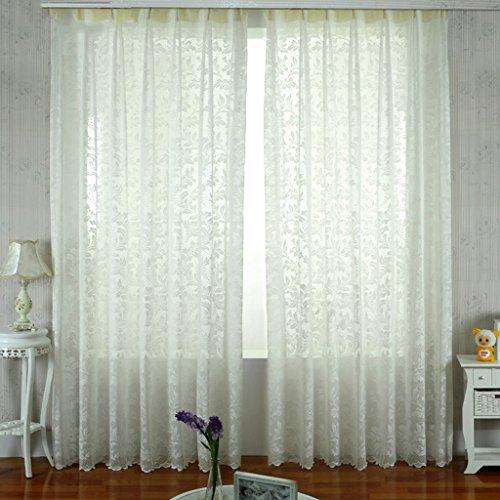 Met Love Nouveaux Rideau Tissus Semi-transparent Jacquard Rideaux Salon Chambre Warp Screens 2 panneaux (taille : L:2.5*H:2.7m)