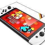 UTECTION 3X Schutzglas Folie für Nintendo Switch OLED 2021 mit 7' Zoll Display - Schutzfolie mit 9H Härte aus Glas gegen Displayschäden - Passgenaue Displayschutzfolie Anti Kratzer - 3 Stück