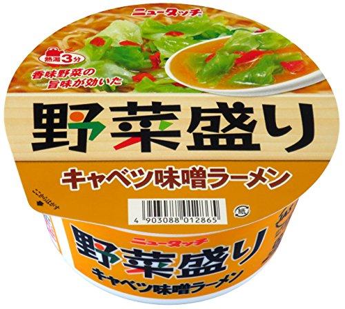 ニュータッチ 野菜盛りキャベツ味噌ラーメン 100g×12個