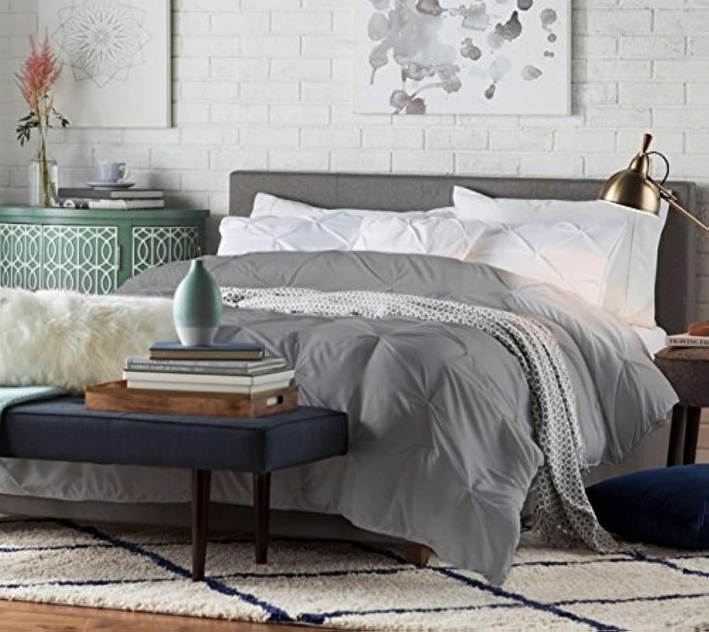 Istyle Carona Double Bed Frame Fabric Grey