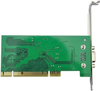 SJZERO Carte Graphique PCI ATI Rage XL 8 mo 32 Bits Multi-Affichage VGA SDRAM Carte de Tracteur vidéo PC Accessoires d'ord...