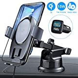 VANMASS 15W Wireless Car Charger Mount, Electric Automatic Clamping Dashboard Air Vent Windshield Phone Holder,Qi Fast Charging Compatible with iPhone 11 Pro Max Xs X,Samsung S20 S10 S9 Note10, LG V30