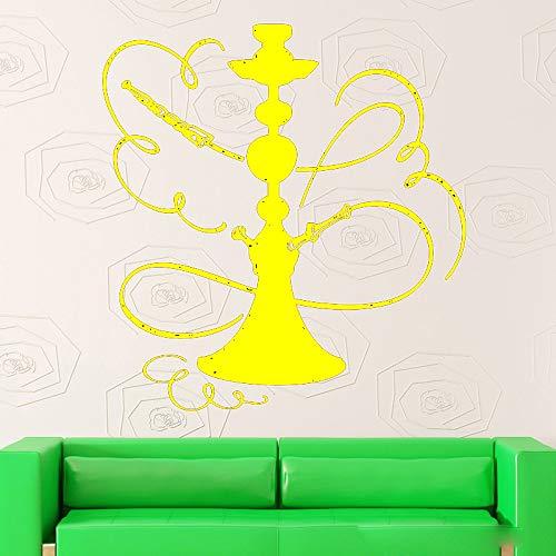 Zaosan ShishaWandaufkleberrauchen orientalische Kultur arabische Shisha VinylAppliqueInnendekorationen84x88cm