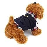 Ropa de MascotasSudaderas Suéter Camisas de Mascotas Gatos Perros 2018 Abrigo Punto Ropa Chaleco Chaqueta para Mascotas (Negro, M)