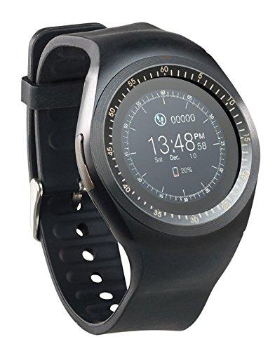 simvalley MOBILE Smartwatch mit SIM: 2in1-Uhren-Handy & Smartwatch für iOS & Android, rundes Display (Smartwatch mit Telefon)
