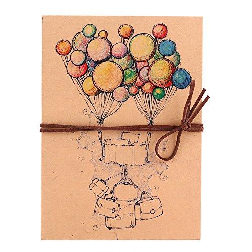 Álbum de fotos DIY, Álbum de Fotos Hecho a Mano de Papel Kraft Scrapbooking Album Cuaderno, Regalo único para el Cumpleaños/Aniversario/Boda/Graduación para el Amante, Amigos, Familia, Niños