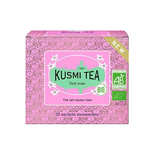 Kusmi Tea – Grüner Tee mit Rosengeschmack BIO - Box mit 20 Musselin Teebeuteln