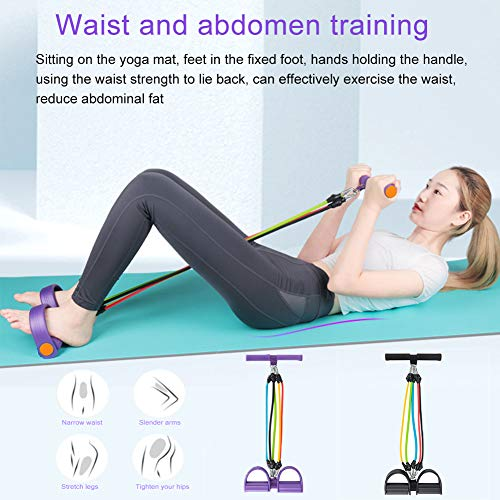 Wavel Resistance Band, Adjustable Training Bands for Elastic Pull Ropes, Elastic Foot Rope for Foot Pedals, 5 Resistance Bands for Tube Stretch