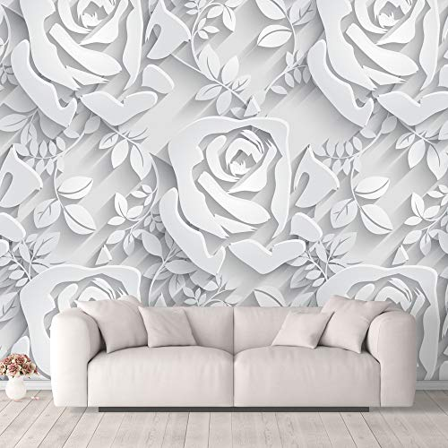 NWT Wall Murals for Bedroom Beautiful 3D View Pattern Flowers Removable Wallpaper Peel and Stick Wall Stickers - 100x144 inches