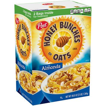 American Standart Post Honey Bunches Of Oats With Almonds 48 Oz As 48 Oz