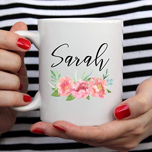 Taza personalizada con nombre personalizado para dama de honor, regalo personalizado para dama de honor, regalo para dama de honor, regalo para mujer