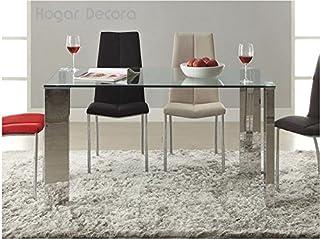 Hogar Decora Malinesa Table de salle à manger en acier