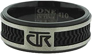 J120 LDS Men's CTR Ring Elements Black Titanium with Rubber Inlay Handmade
