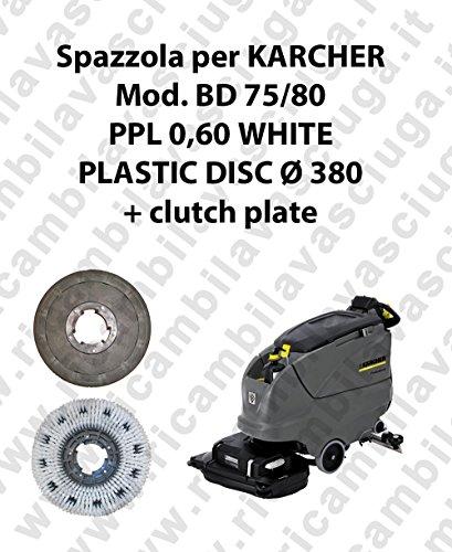 Reinigingsborstel PPL 0.6 WHITE voor vloerwisser KARCHER model BD 75/80