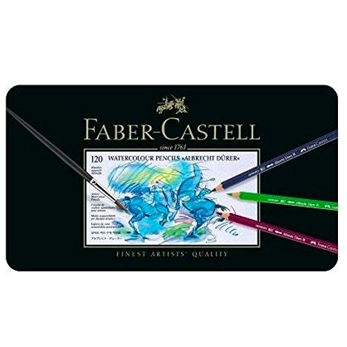 Faber-Castell 117511 - Estuche de metal con 120 ecolápices acuarelables, multicolor