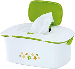 ZOUJUN Wet Tissue Storage Box Plastic Case Heating Baby Wipes Warmer Thermostat for Baby Household, Portable Wet Wipes Heating Box Insulation Heat 23 * 14cm (Color: Green)
