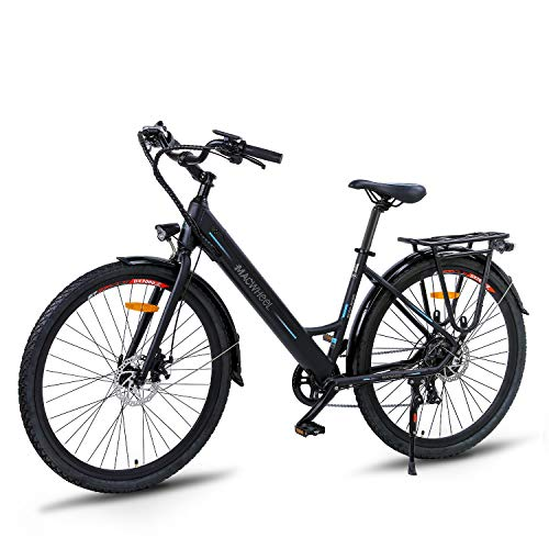 Macwheel Elektrofahrrad Abnehmbarer 36V/10Ah Lithiumionenakku E-Bike 27.5 Zoll Mountainbike mit 7-Gang Shimano Verstellbar Sattel Trekkingrad