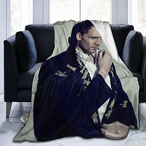 KEROTA Tom Hiddleston manta franela aire acondicionado manta estudiante manta suave impresión térmica manta niños/adul