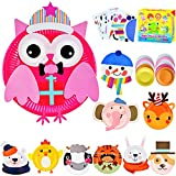 ZMLM Arts Crafts Toy Gift: Paper Plate Kit for Kids DIY Art Supplies Project Children Preschool Classroom Party Favor Activity Toddler Birthday Game Educational Holiday Christmas Crafts for Girls Boys