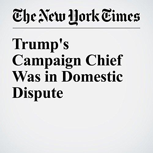 Trump's Campaign Chief Was in Domestic Dispute audiobook cover art