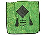 Green with Black Diamond- Myth Global- Messenger Bag - Silk Shoulder Bag for All-Purpose Use - Satchel Shoulder Bag for Men & Women - with 12 inch iPad/Tablet Compartment 15-Inch Laptop Computer and Tablet Shoulder Bag Carrying Case , Waterproof Laptop