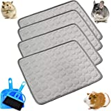 kathson Guinea Pig Cage Liner Hamster Bedding Washable Pee Pads Chinchilla Cage Accessories Super Absorbent Pet Mat Small Animal Sleep Cushion for for Small Animals with Cage Cleaner Set