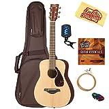 Yamaha JR2 Junior-Size 33-Inch Acoustic Guitar - Natural Bundle with Gig Bag, Tuner, Strings, String Winder, Picks, Austin Bazaar Instructional DVD, and Polishing Cloth