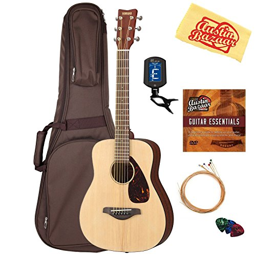 Yamaha JR2 Junior-Size 33-Inch Acoustic Guitar - Natural Bundle with Gig Bag,...