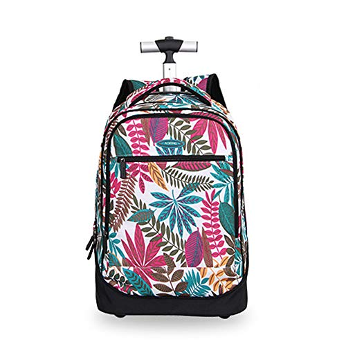 QWERASD Trolley Backpack Satchel Trolley Nylon School Trolley Business Trolley Laptop Backpacks with Capacity 41L,Color