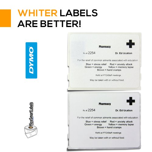 "OfficeSmartLabels - 2-1/8"" x 2-3/4"" Veterinary Diskette Media Labels, Compatible with Dymo 30258 (4 Rolls - 400 Labels Per Roll) Photo #5"