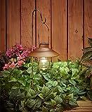 Obell: Outdoor Hanging Solar Lantern Light Built with Warm White Fliament Bulbs
