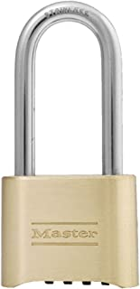 Master Lock 175LH Set Your Own Combination Padlock, 2-1/4 in. Shackle, Brass Finish
