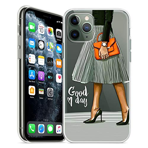 Carcasa para iPhone transparente para iPhone 11 Pro, 5S, 6, 6S, 7, 8 Plus, X, X, X, Max, moda para mujeres, funda para iPhone 7, funda suave de TPU para iPhone Xr